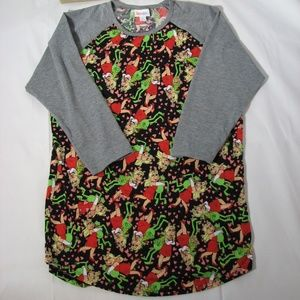 LuLaRoe Miss Piggy Kermit Randy Top L